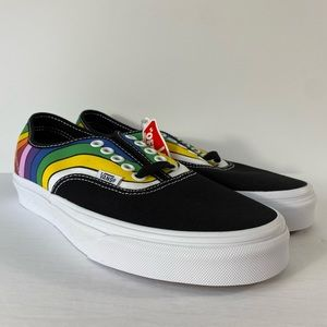 Vans Authentic Refract Rainbow Black Sneakers
